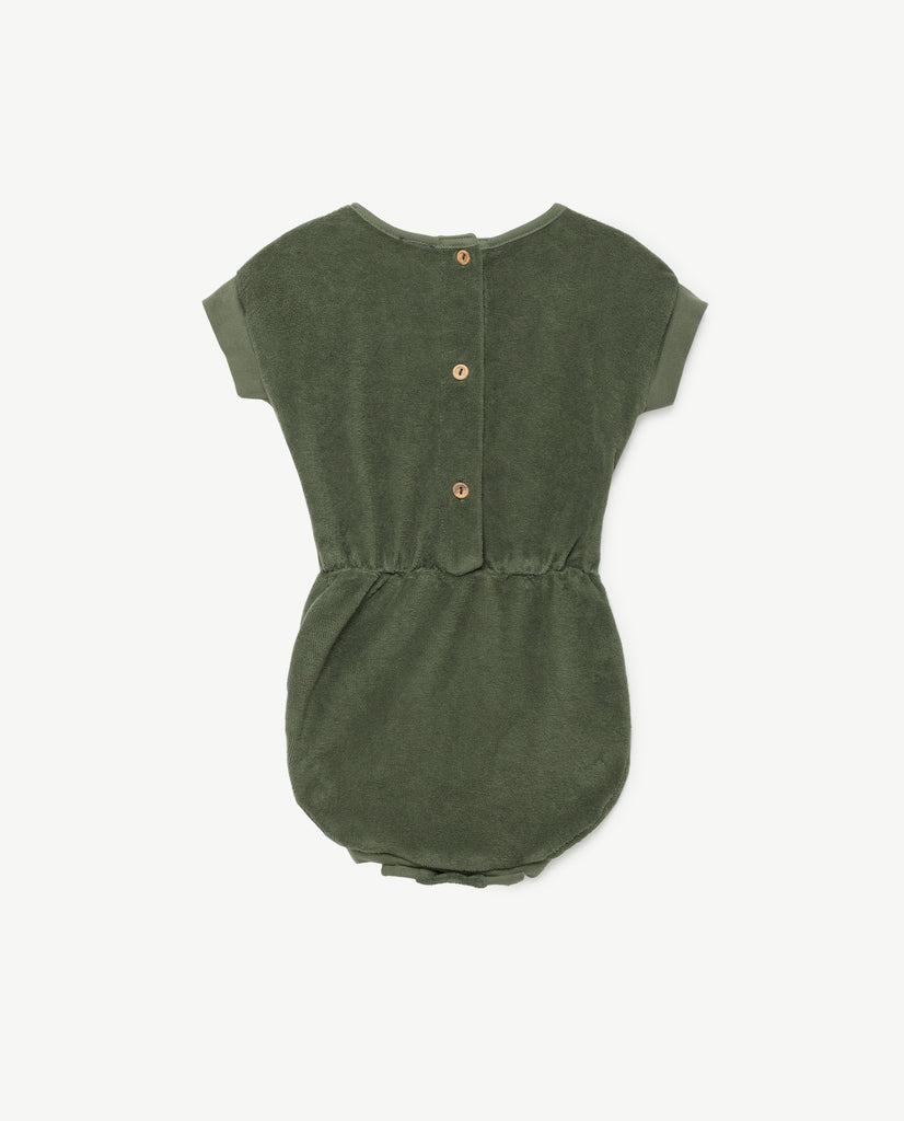 The Animals Observatory Koala Baby Suit in Military Green | BIEN BIEN