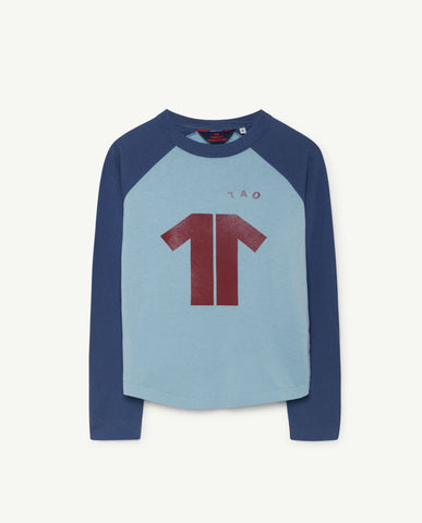 The Animals Observatory Cricket Long Sleeve Kid's T-Shirt Blue Maroon TAO | BIEN BIEN