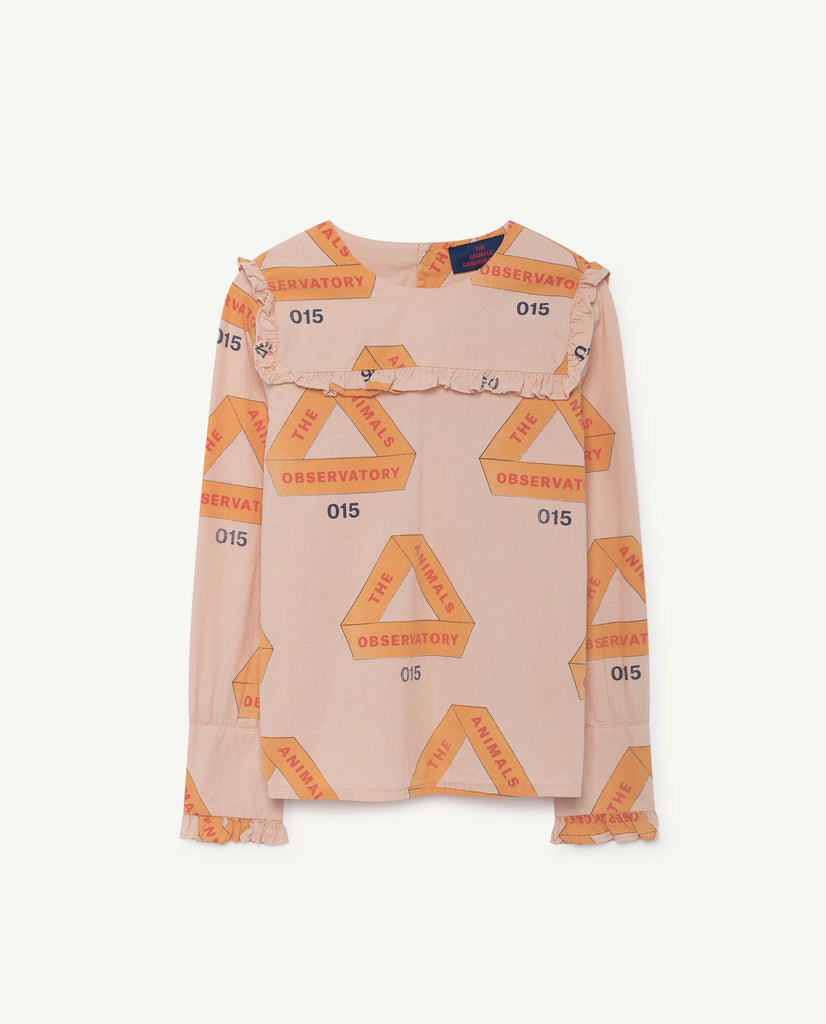 The Animals Observatory Gadfly Kid's Shirt Rose Triangles | BIEN BIEN