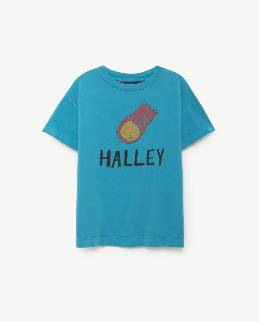 The Animals Observatory Rooster Baby T-Shirt Blue Halley | BIEN BIEN