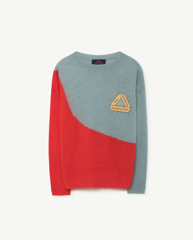 The Animals Observatory Bicolor Bull Unisex Kid's Sweater Soft Blue | BIEN BIEN