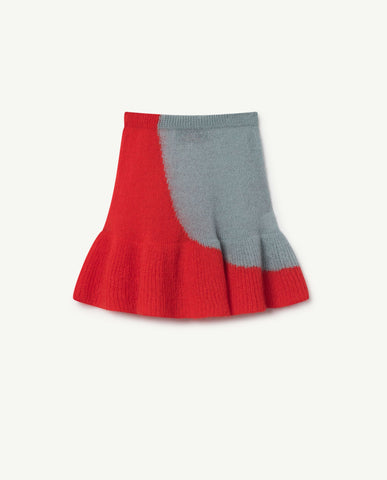 The Animals Observatory Swan Kid's Knit Skirt Soft Blue | BIEN BIEN
