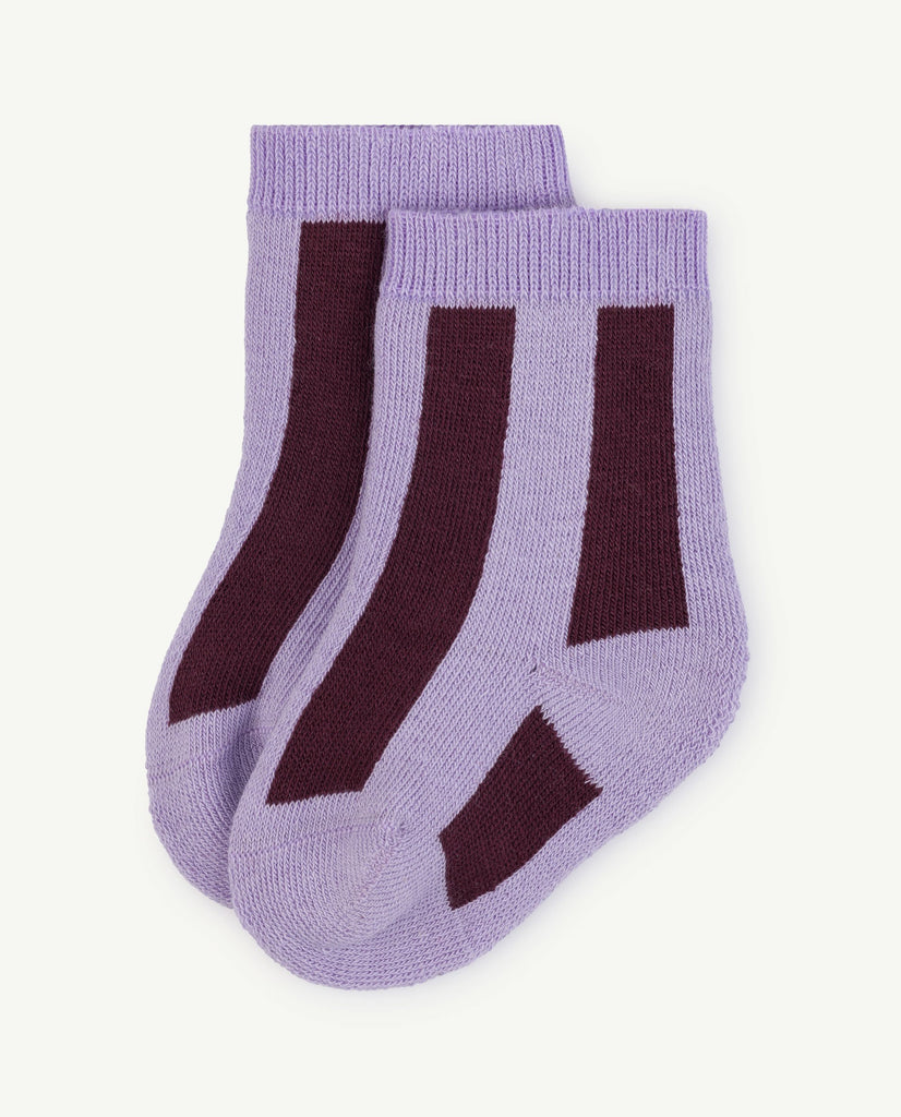 The Animals Observatory Skunk Baby Socks Purple| BIEN BIEN
