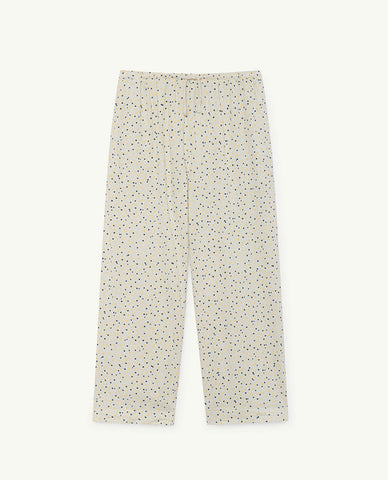 The Animals Observatory Horse Kid's Pant White/Yellow/Navy Blue Dots | BIEN BIEN | www.bienbienshop.com