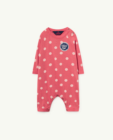 0b251867e25 The Animals Observatory Owl Baby Romper Red Polka Dots