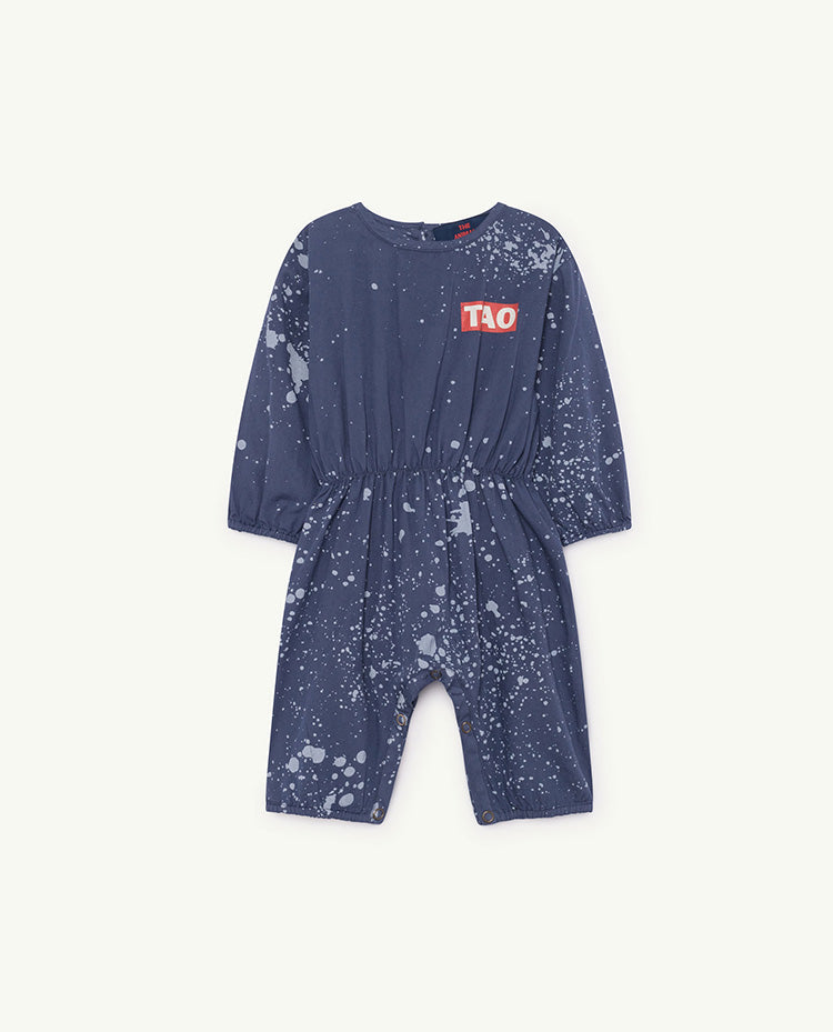 The Animals Observatory Meerkat Unisex Baby Romper Blue Splashes | BIEN BIEN | www.bienbienshop.com