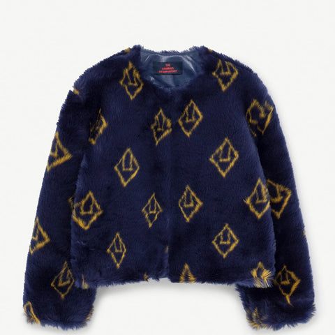 New - The Animals Observatory Logo Shrew Kid's Jacket Navy Blue | BIEN BIEN www.bienbienshop.com