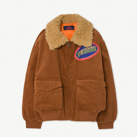New - The Animals Observatory Tiger Kid's Cord Jacket Deep Brown | BIEN BIEN www.bienbienshop.com