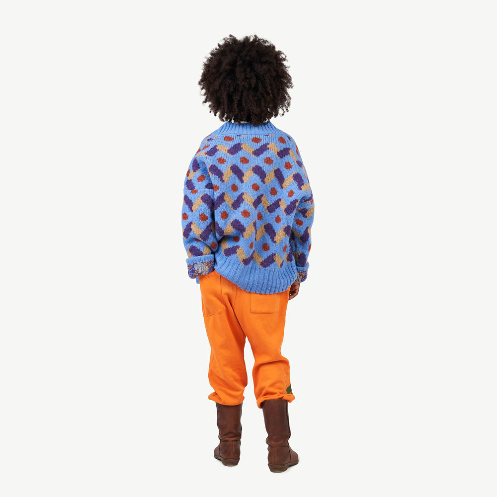 New - The Animals Observatory Raccoon Kid's Wool Cardigan Blue | BIEN BIEN www.bienbienshop.com