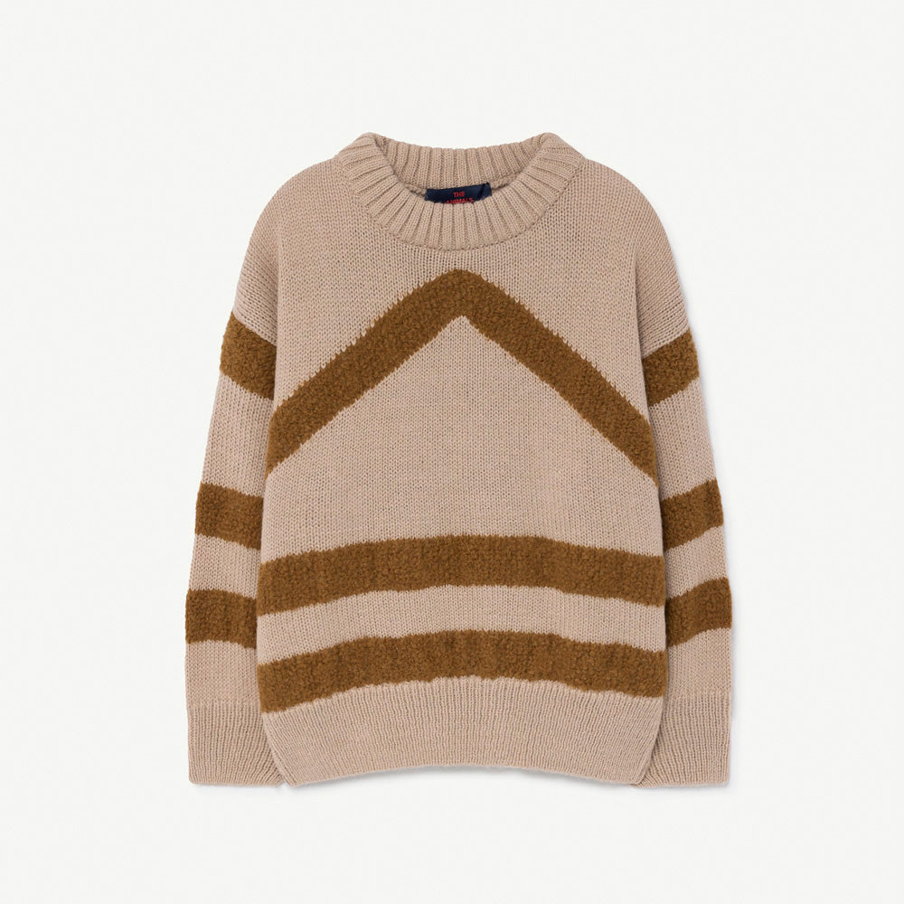 New - The Animals Observatory Bull Kid's Jumper Soft Beige | BIEN BIEN www.bienbienshop.com