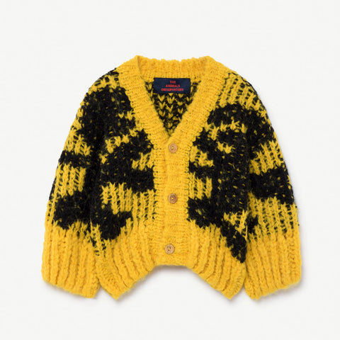 New - The Animals Observatory Arty Raccoon Alpaca & Wool Baby Cardigan | BIEN BIEN www.bienbienshop.com