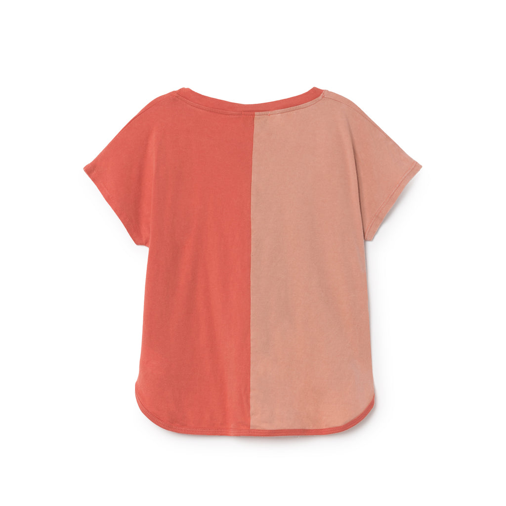 Bobo Choses Bicolour Sun Kid's T-Shirt in Rose/Red | BIEN BIEN