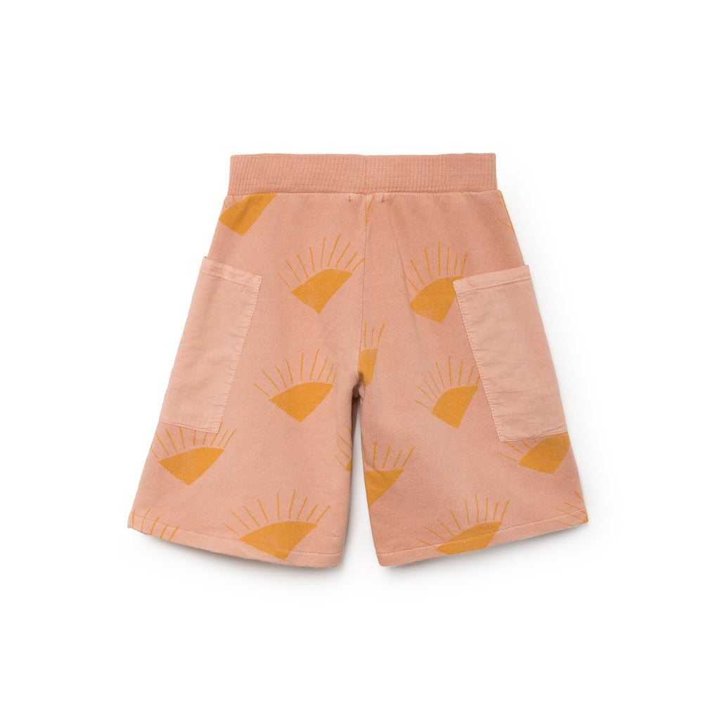 Bobo Choses Sun Pockets Kid's Bermuda Shorts in Rose Sun Organic Cotton | BIEN BIEN