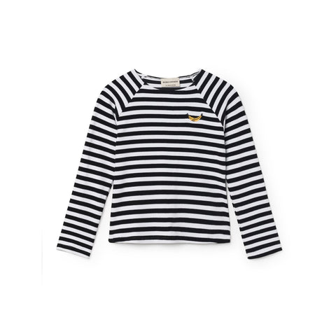 Bobo Choses Stripes Kid's Swim Shirt in Black/White Breton | BIEN BIEN