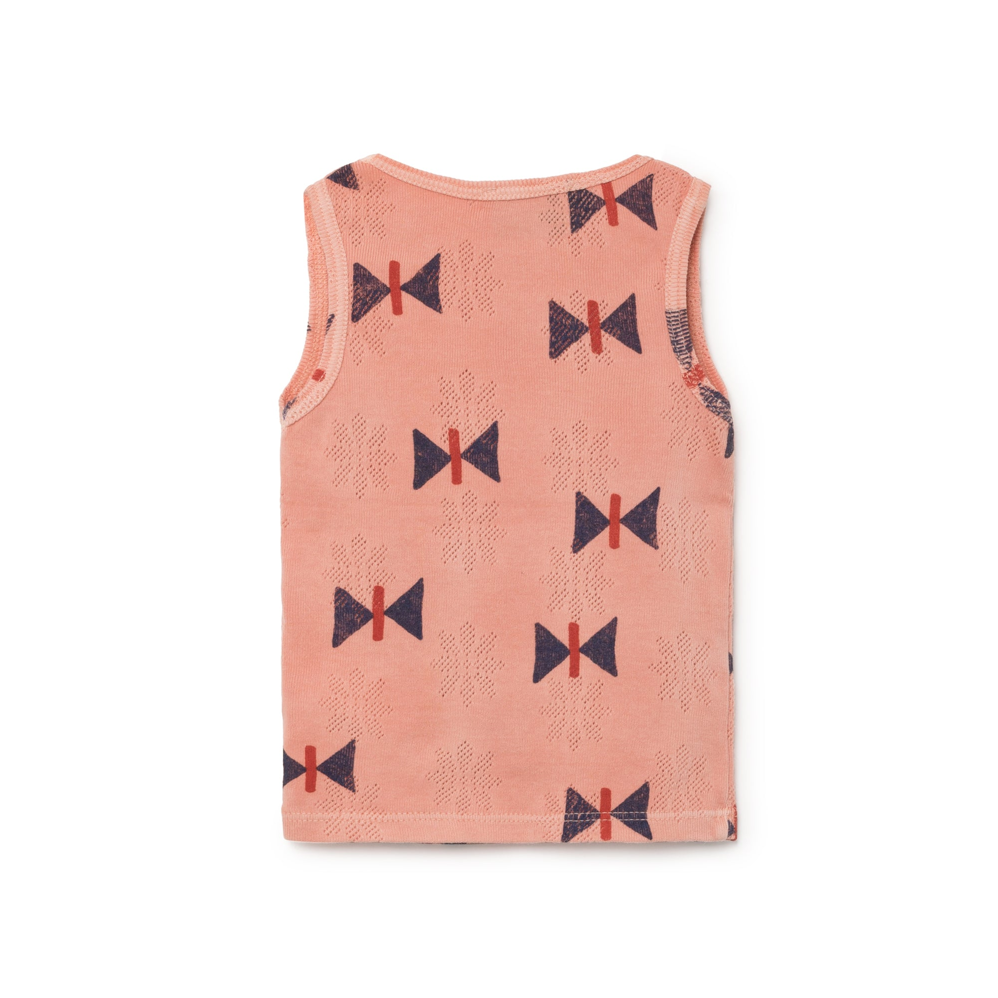 Bobo Choses Buttons Pointelle Baby Tank Top in Taupe Butterfly | BIEN BIEN