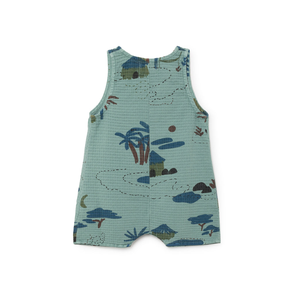 Bobo Choses Gombe Baby Playsuit in Sea Green | BIEN BIEN