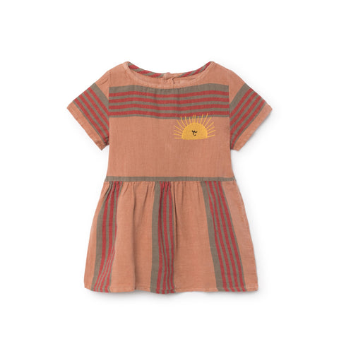 Bobo Choses Stripes Linen Baby Girl Dress | BIEN BIEN