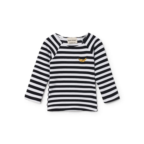 Bobo Choses Stripes Baby Swim Shirt in Black/White Breton | BIEN BIEN