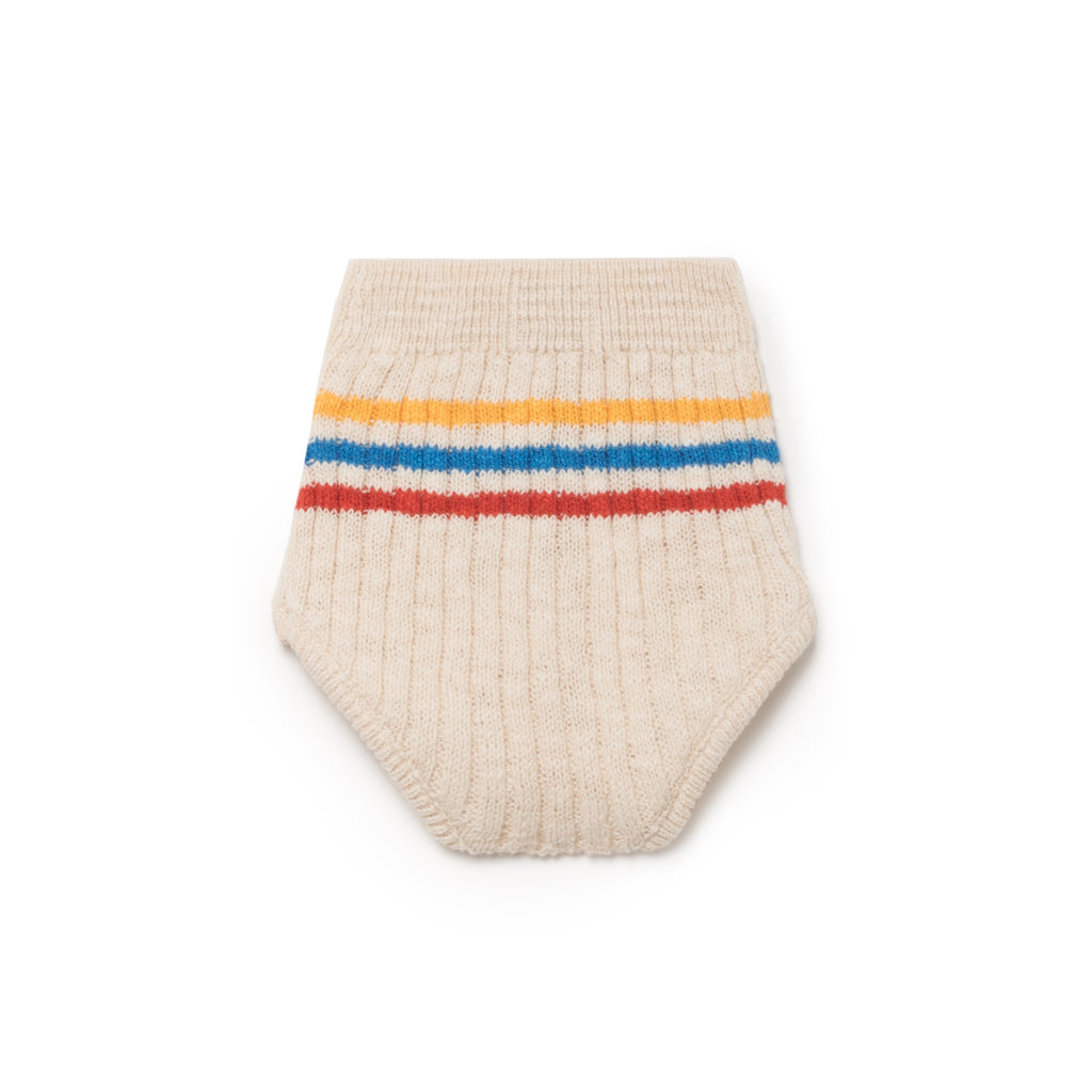 Bobo Choses Knit Baby Bloomer in Ivory Stripe | BIEN BIEN