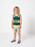 Bobo Choses Lines Kid's Chino Bermuda Shorts Light Grey | BIEN BIEN | www.bienbienshop.com