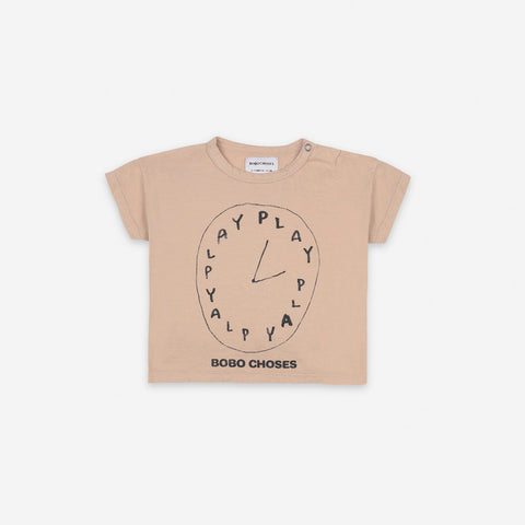 Bobo Choses Short Sleeve Baby T-Shirt Organic Cotton Brush Beige | BIENBIEN bienbienshop.com