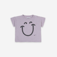 NEW Bobo Choses Big Smile Baby Tee Lavender Aura Lilac Organic Cotton | BIEN BIEN bienbienshop.com