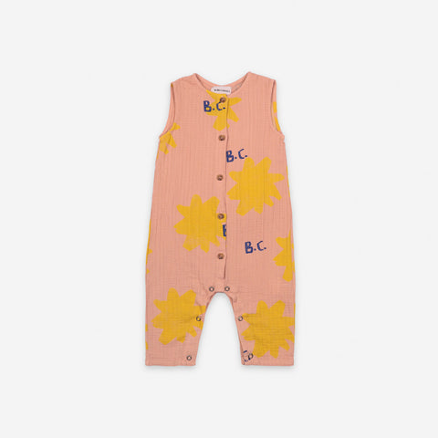 NEW Bobo Choses Sparkle Baby Overall Romper Dusty Pink Organic Cotton | BIEN BIEN bienbienshop.com