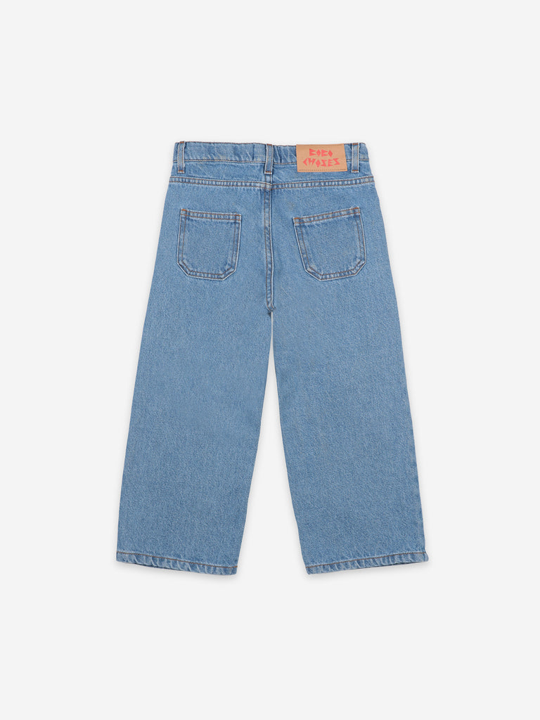 NEW Bobo Choses Squared Kid Denim Pant Jean Swedish Blue | BIEN BIEN