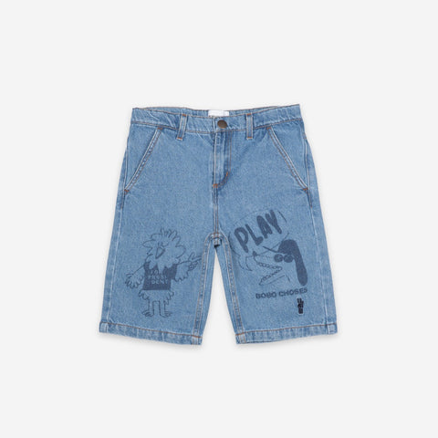 Bird & Dog Kid's Denim Bermuda