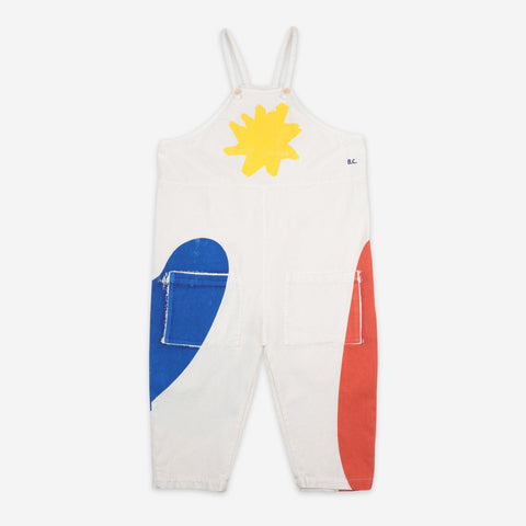 NEW Bobo Choses Landscape Kid's Baggy Dungaree Custard | BIEN BIEN