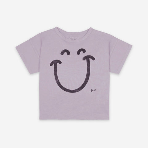 NEW Bobo Choses Big Smile Kid's Tee Lavender Aura Lilac Organic Cotton