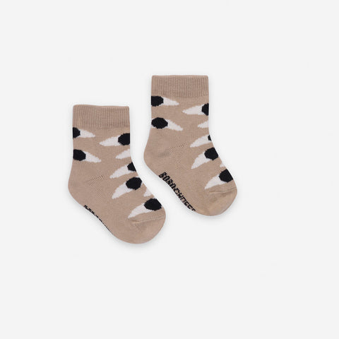 NEW Bobo Choses Eyes Baby Socks Turtledove Grey | BIEN BIEN