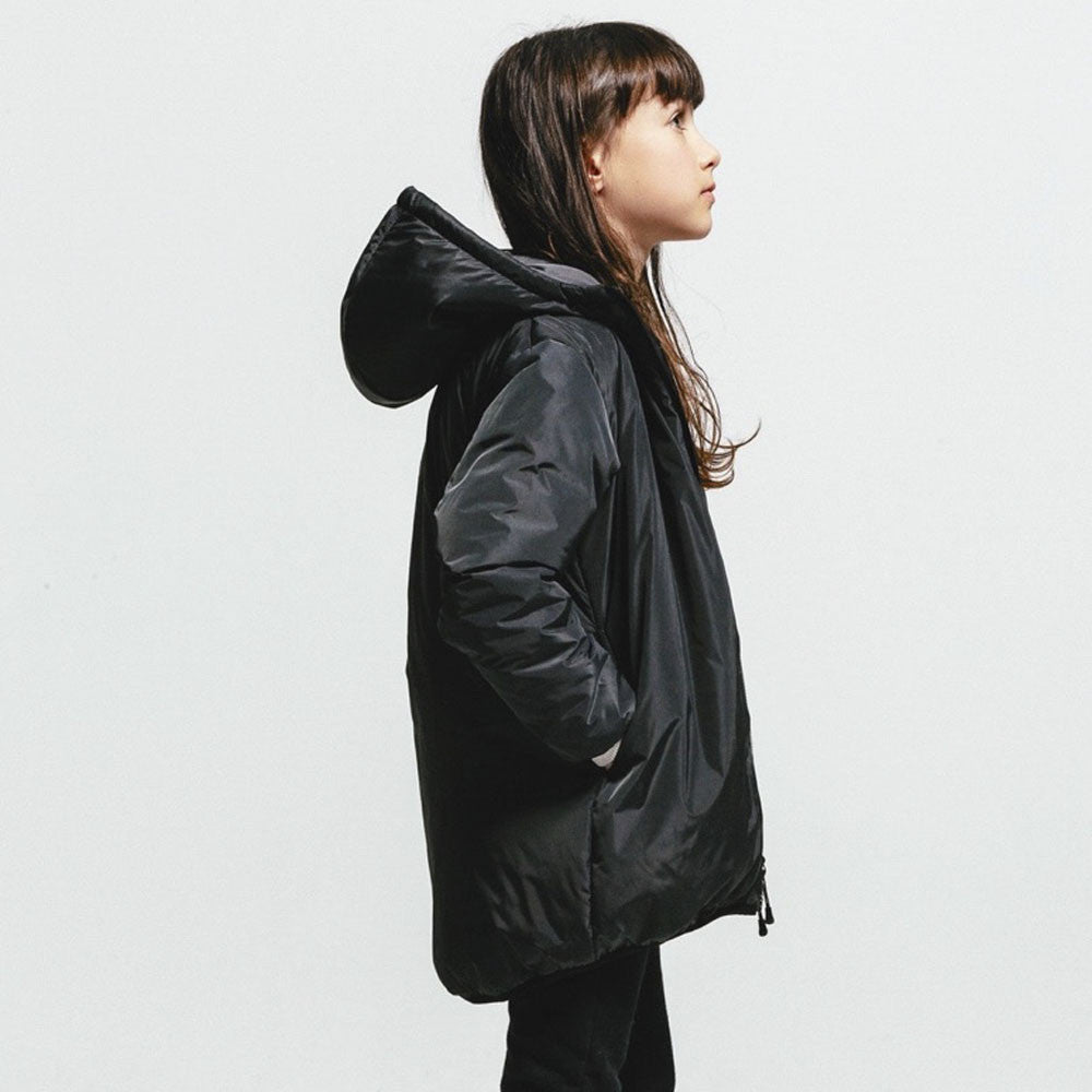 Finger in the Nose Rain Parka in Ash Black | BIEN BIEN