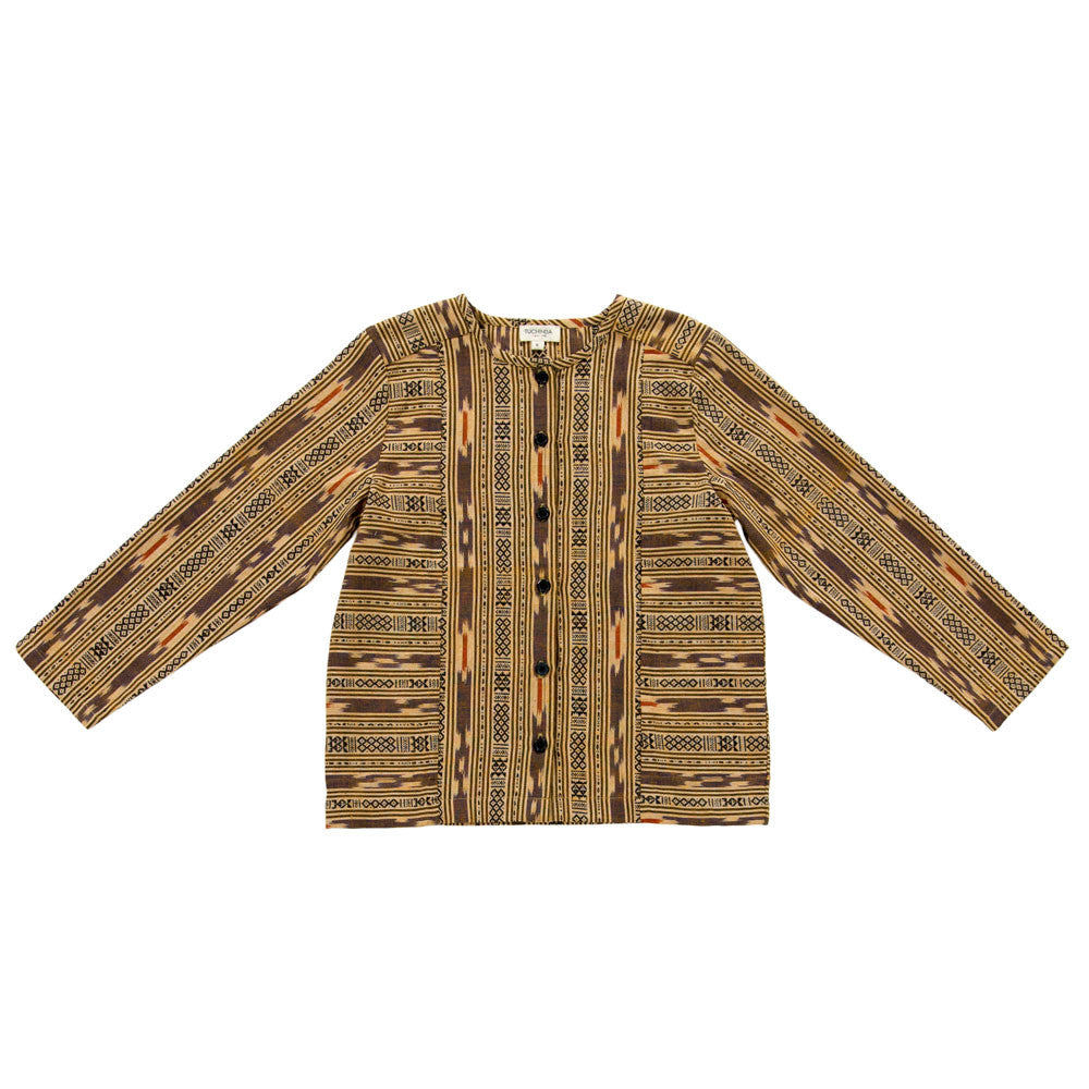 Tuchinda Gabe Tunic in Gold Ikat | BIEN BIEN