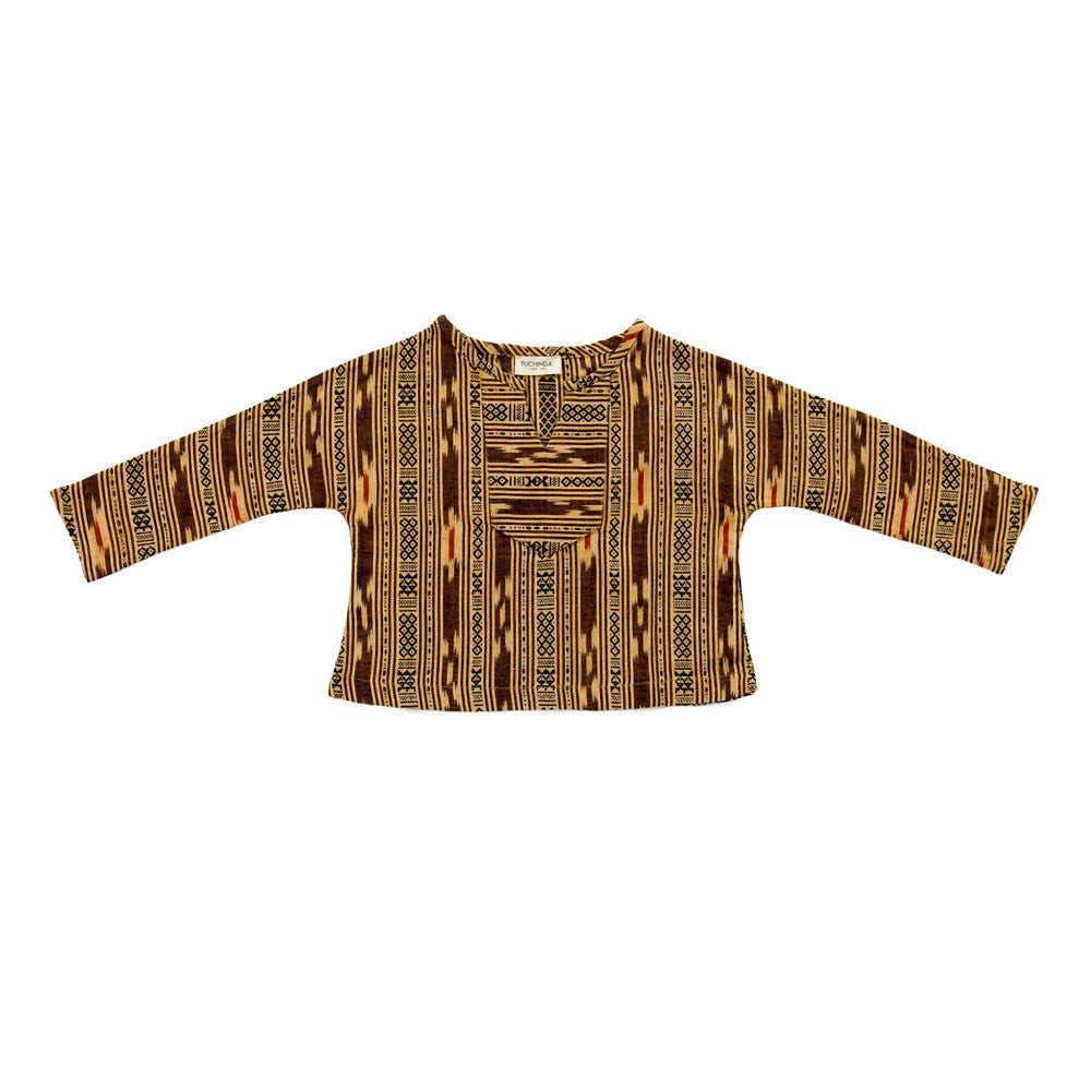 Tuchinda Santiago Shirt in Gold Ikat | BIEN BIEN