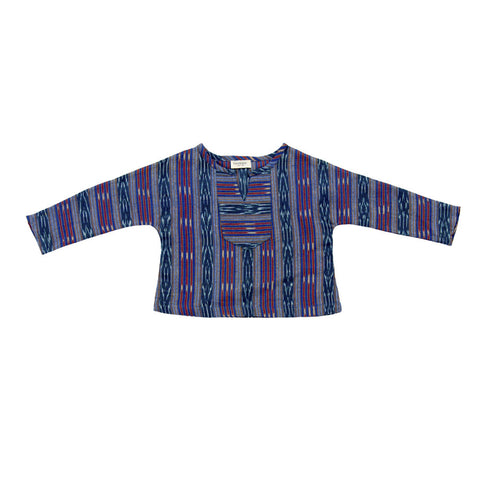 Tuchinda Santiago Shirt in Teal Ikat | BIEN BIEN