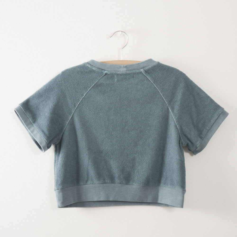 Bobo Choses Short Sleeve Unisex Kid's Sweatshirt Keep Waters Tidy in Smoke | BIEN BIEN