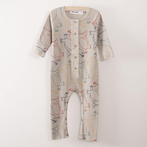 Bobo Choses Ribbed Baby Jumpsuit in Cloud Otariinae | BIEN BIEN