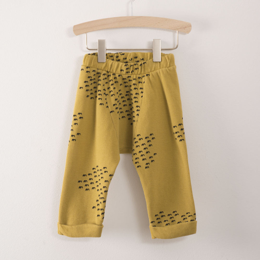 Bobo Choses Flocks Baby Track Pant in Mustard | BIEN BIEN
