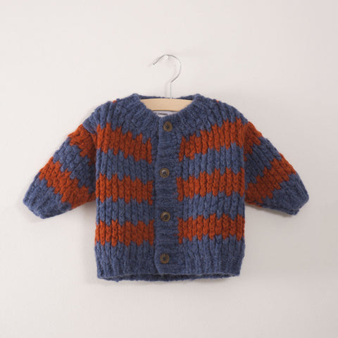 Bobo Choses Nautical Stripes Unisex Baby Cardigan | BIEN BIEN