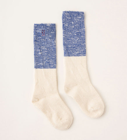 Bobo Choses Bicolor Unisex Baby Knee Sock in Blue/Ivory | BIEN BIEN