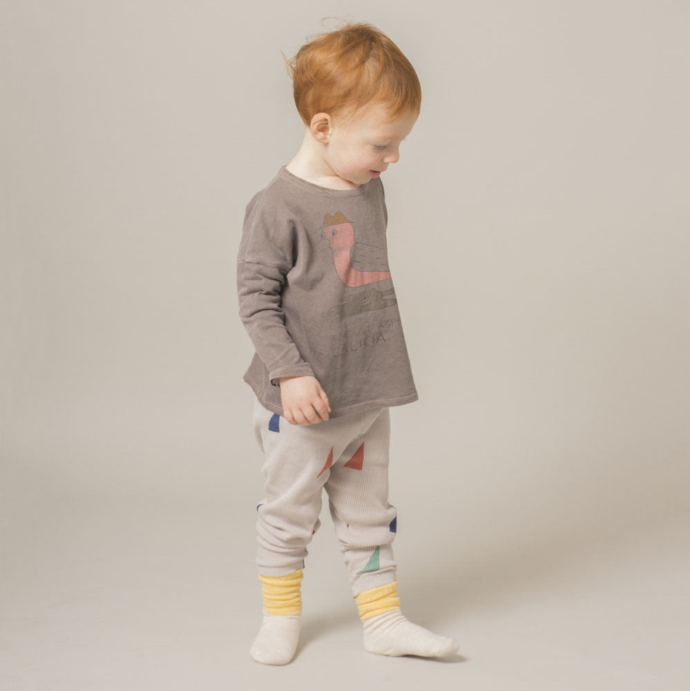 Bobo Choses Bicolor Unisex Baby Knee Sock in Yellow/Ivory | BIEN BIEN