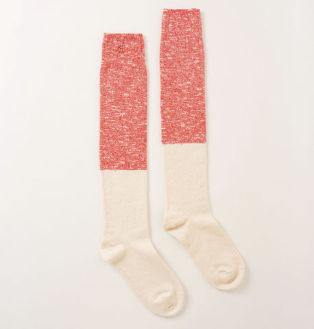 Bobo Choses Bicolor Unisex Kid's Over the Knee Sock in Red/Ivory | BIEN BIEN