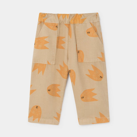 Bobo Choses Allover Comets Baby Straight Leg Pants Pebble | BIEN BIEN www.bienbienshop.com