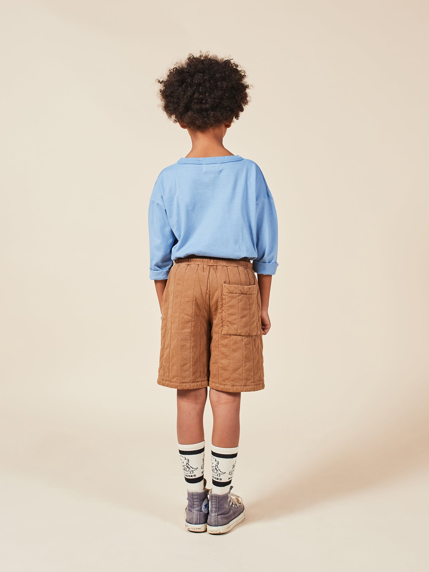 Bobo Choses Dino Kid's Long Socks White/Black | BIEN BIEN bienbienshop.com