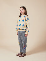 Kid's Curved Seam Denim Trouser