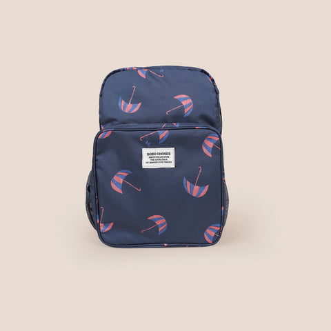 Bobo Choses Umbrellas Kid's Schoolbag Backpack Navy Blue| BIEN BIEN bienbienshop.com