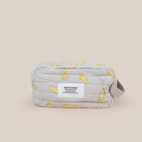 Bobo Choses Hands All Over Quilted Pouch Light Grey | BIEN BIEN bienbienshop.com
