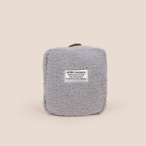 Bobo Choses Sheepskin Kid's Schoolbag Backpack Light Grey Organic Cotton | BIEN BIEN bienbienshop.com