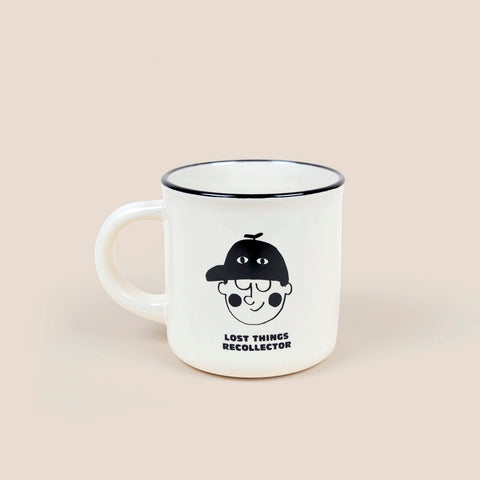 Bobo Choses Kid's Ceramic Boy Mug Pristine White/Black | BIEN BIEN bienbienshop.com
